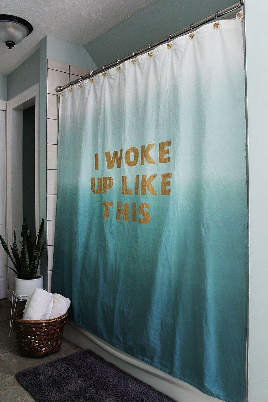 Budget Bathroom Makeover 10 Creative DIY Shower Curtains