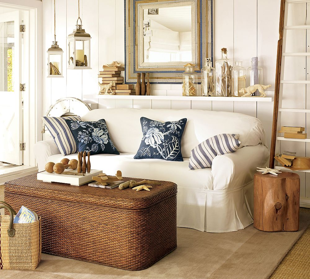 coastal design living room wall shelf ideas 15 gorgeous beach style rooms with a dash of woodsy charm touch rustic beauty