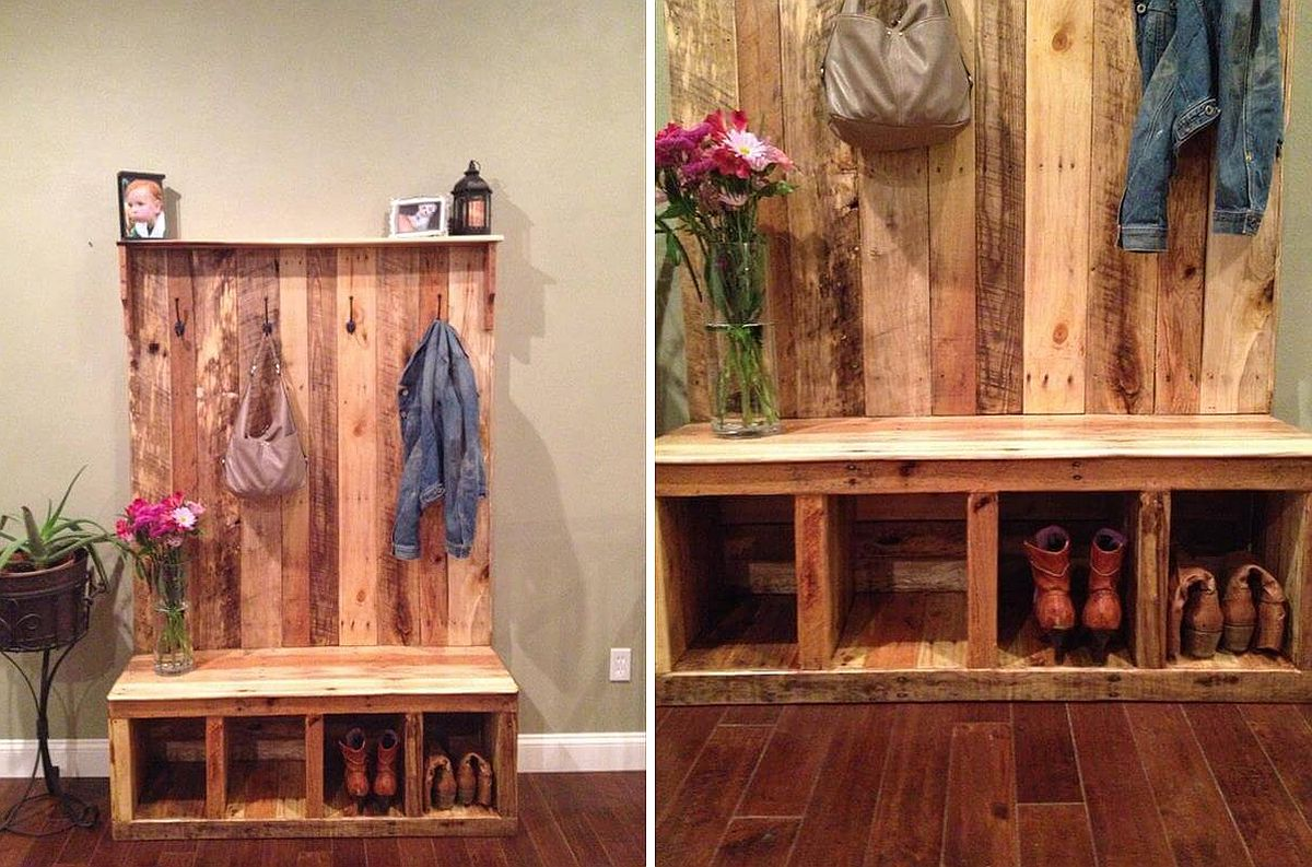 An Organized Welcome Diy Entryway Benches With Space