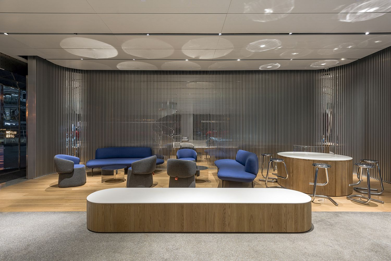 open plan kitchen living room design ideas bookshelf nio house in beijing redefines your journey into the world ...