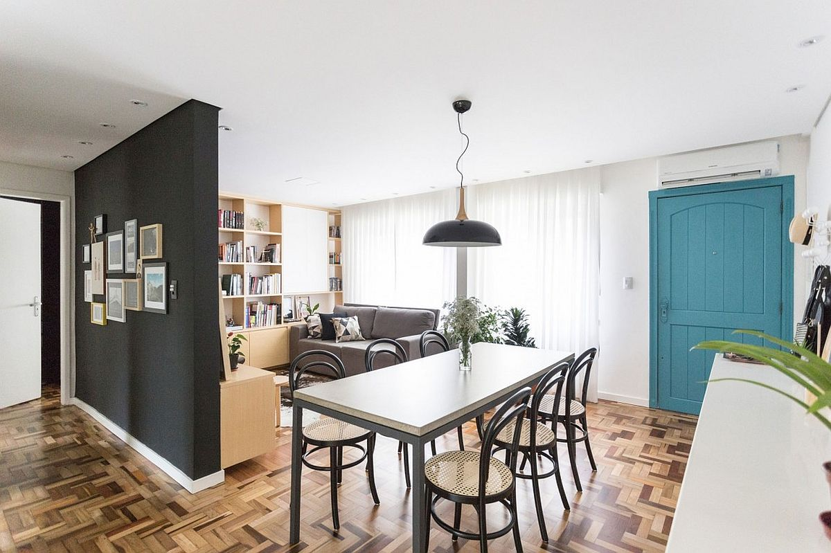 living room small apartment corner table 25 tiny dining rooms that save space and multitask striking pendant lights
