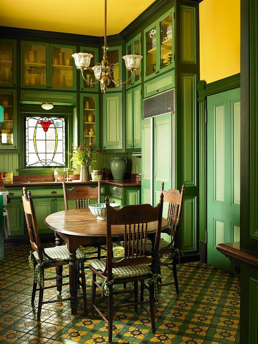 Gorgeously Refreshing Versatile Green Dining Rooms in