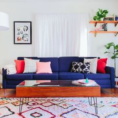 Navy Blue Sofa Living Rooms Small Room With Dining Table Hot Fall And Winter Trend Exquisite Sofas For A Trendy