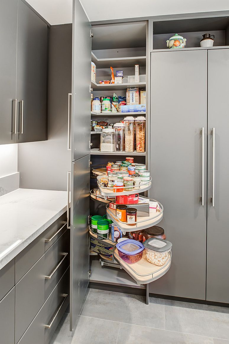 how to add a pantry your kitchen contemporary light fixtures 25 smart small ideas maximize storage space cabinet with built into it view in gallery