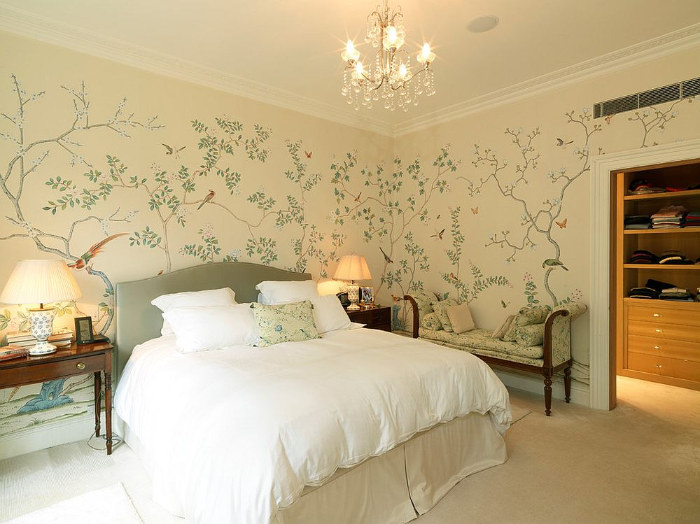 Painted Wallpaper Bold and Vivacious Taking over Spring Bedrooms this Year  Architecture