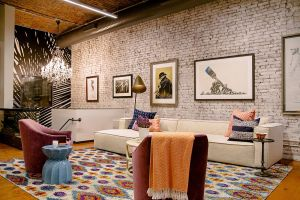 Eclectic Living Rooms With Brick Walls Chic Confluence Of