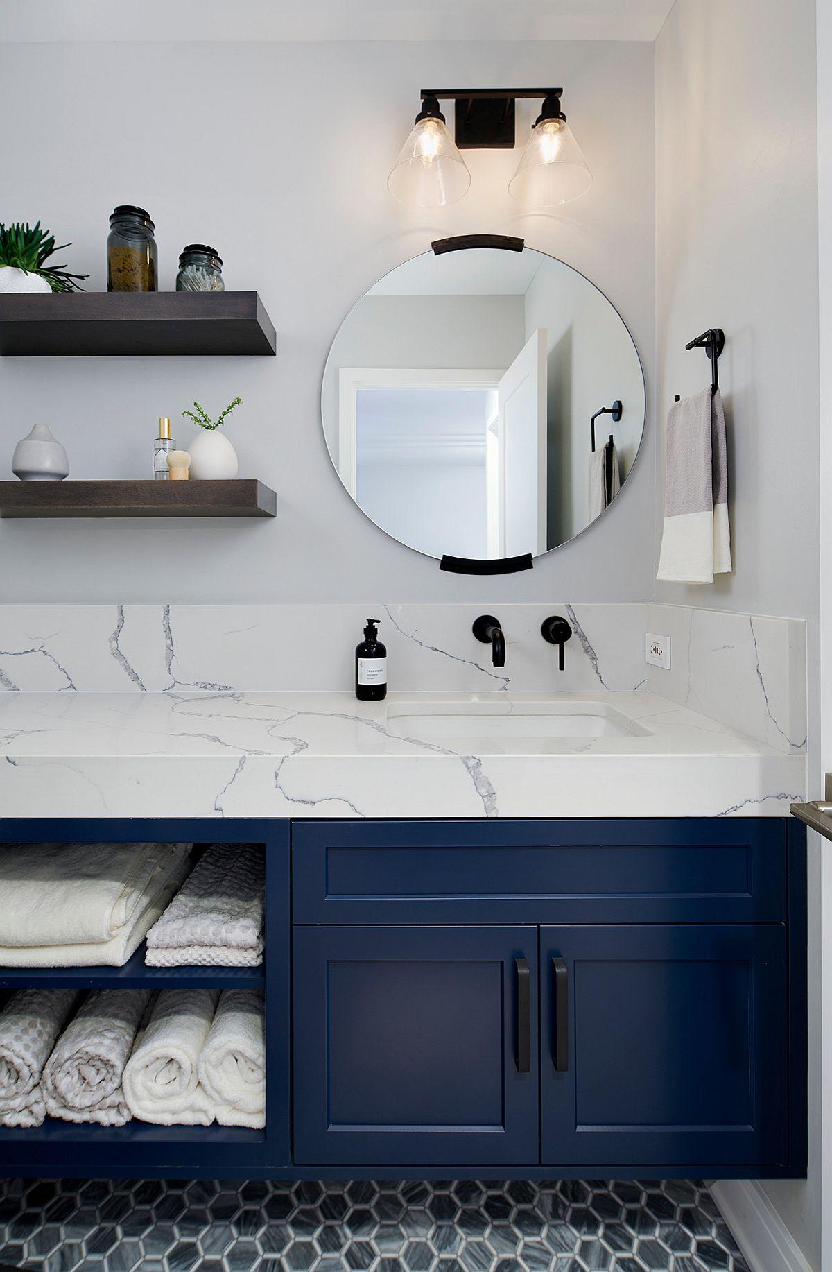 Dark Blue Bathroom Vanity Ideas Image Of Bathroom And Closet