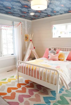 ceiling rooms bedroom even toddler bed