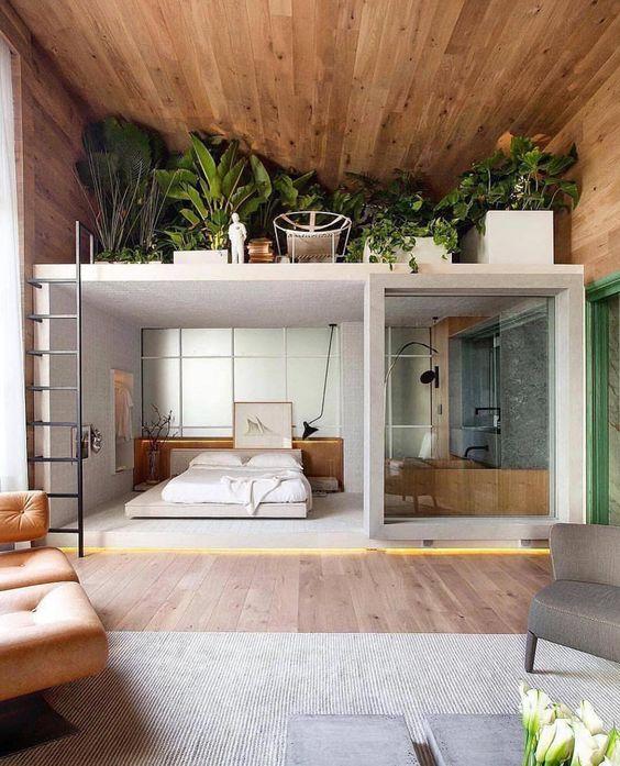 Earth Tones in Modern Studio Apartment