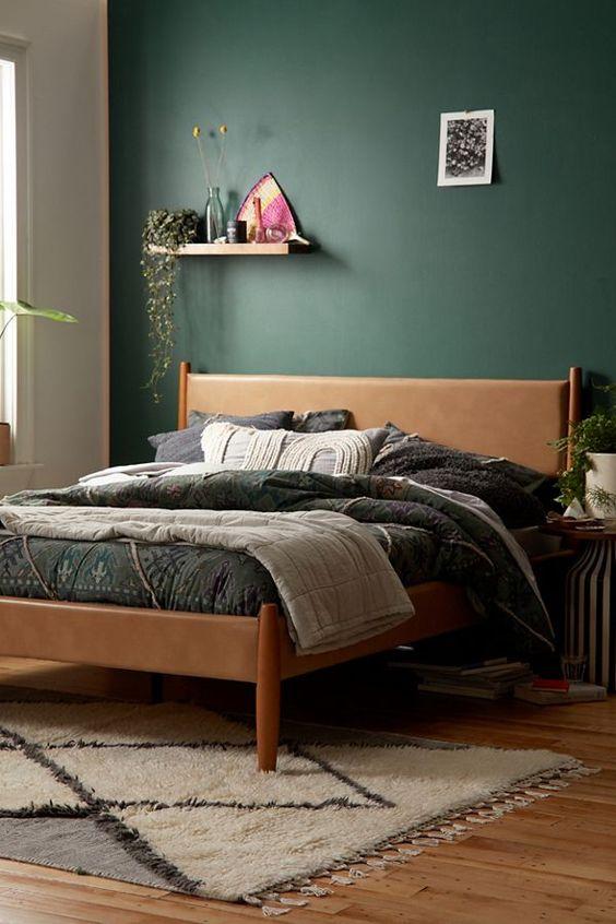 Dark Green Bedroom Earth Tones
