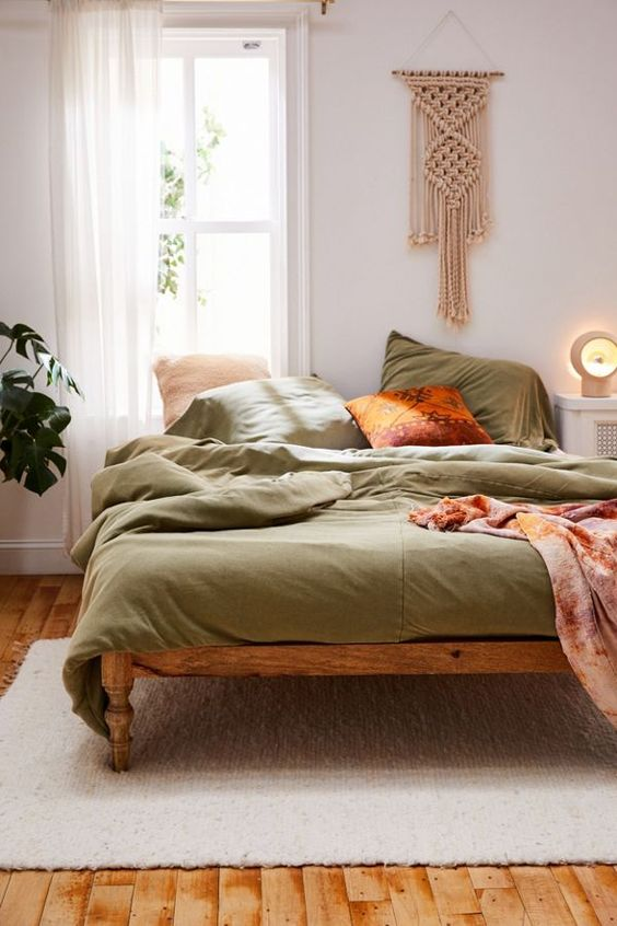 Olive Green Earth Toned Bedding Urban Outfitters