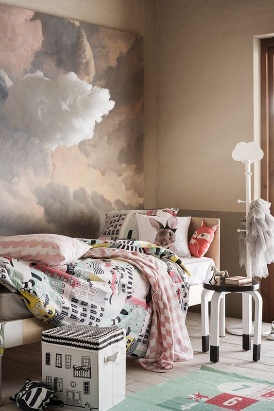 Weather Inspired Children's Bedroom Earth Tones