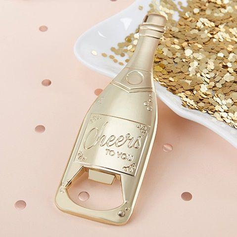 le decapsuleur bouteille de champagne doree