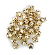 100 Pcs Gold Plated Jingle Bells Loose Beads Charms Diy