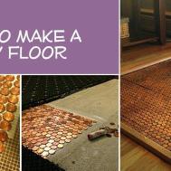 100 Penny Floor Tile Template Pennies Can Brighten Your
