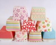 100pcs Lot Mix Color Square Paper Cupcake Liners Muffin