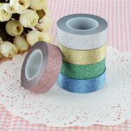 10m Glitter Washi Sticky Paper Masking Adhesive Tape Label