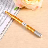 10pcs Microblade Tattoo Eyebrow Pen Holder Golden Manual