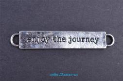 10s Charm Enjoy Journey Silver Pendant Diy Jewelry