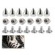 10x Metal Cone Screwback Spikes Stud Leather