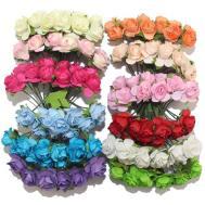 1cm Single Head 12colors Artificial Flower Bouquet Paper
