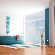 2014 Stylish Bathroom Interior Design Blue White