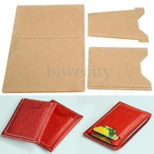 3pcs Plexiglass Template Leather Pattern Handcraft Tool