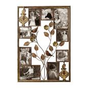 Adeco Bronze Color Iron Wall Hanging Collage