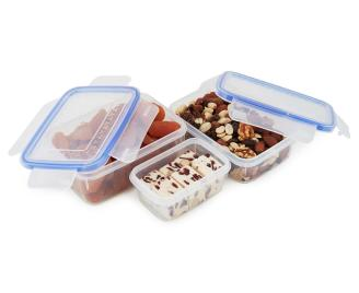Airtight Food Storage Containers Piece Set Blue