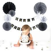 Aliexpress Buy Black White Paper Decoration Set
