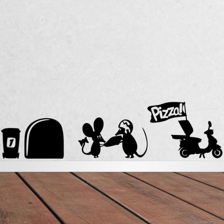 Aliexpress Buy Funny Mouse Hole Wall Stickers