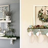 Alternative Mantle Ideas Holiday Decorating
