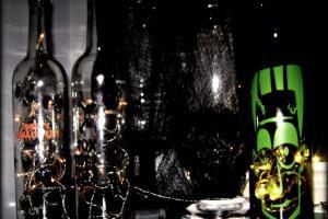 Always Chasing Life Spooky Halloween Wine Bottles Easy Diy