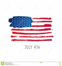 American Flag 4th July Stock Vector