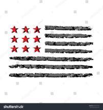 American Flag Grunge Symbol 4th July Stock Vector