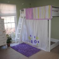 Ana White Girls Twin Loft Bed Curtain Diy Projects