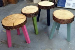 Ana White Stump Stools Building Grid Alaska