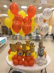 Animal Theme Table Center Pieces Seattle Balloon Decorations