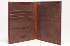 Antique Passport Holder Leather Wallet Light Brown