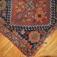 Antique Persian Gashkai Handmade Bagface Rug 1870s
