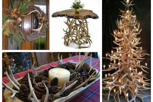 Antler Decorations Ideas Rustic Home Decor