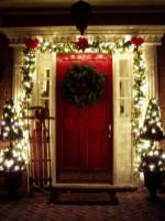 Apartment Porch Christmas Decorating Ideas Doors
