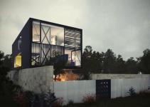 Architectural Concept Glass Box Home