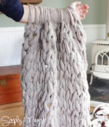 Arm Knit Blanket Minutes Simply Maggie