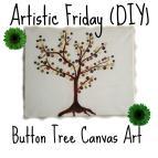 Artistic Friday Diy Button Tree Canvas Art