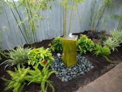 Artistic Garden Pot Fountain Small Green Landscape