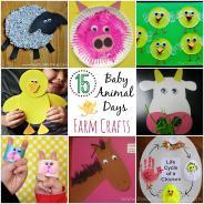 Baby Animal Days Farm Crafts Kids Heart