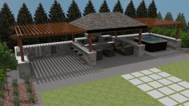 Backyard Entertainment Designs Outdoor Furniture Design