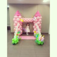 Balloon Fantasy Princess Castle Backdrop Beautiful