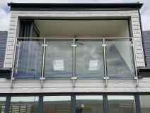 Barbican Juliet Balcony Glass Stainless Steel